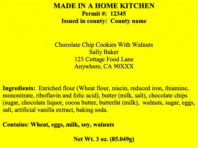 California Cottage Food Laws