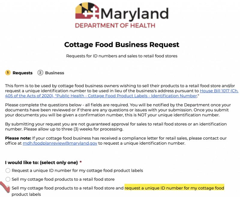 Maryland Cottage Food Laws
