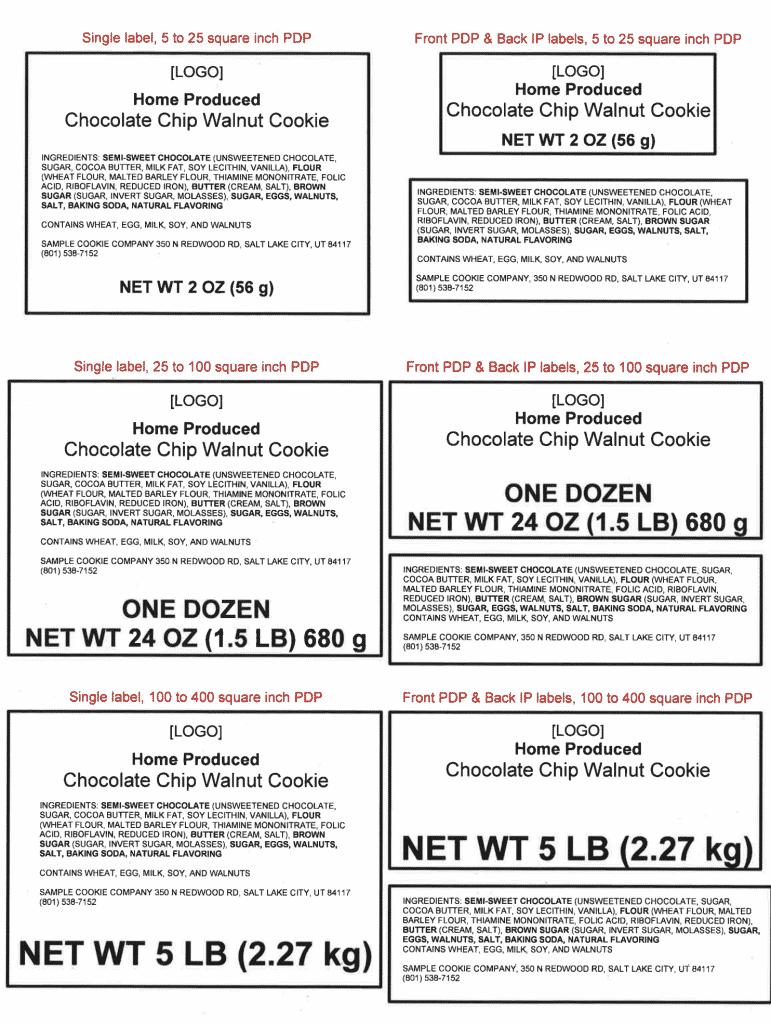 Utah Cottage Food Laws - Labeling